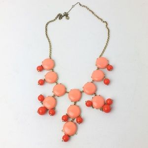 J. Crew Bubble Statement Necklace in melon